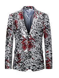 cheap -Men's Party Cotton Blazer - Floral