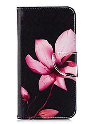 Недорогие -Кейс для Назначение Huawei P20 lite P20 Бумажник для карт Кошелек со стендом Флип С узором Чехол Цветы Твердый Кожа PU для Huawei P20