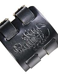 preiswerte -Herrn Leder Cool 1pc Lederarmbänder - Rock Skorpion Schwarz Braun Armbänder Für Klub Strasse