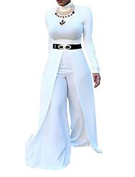 cheap -Women's Cotton Slim Jumpsuit - Solid Colored V Neck