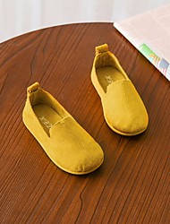 cheap -Girls' Shoes Nubuck leather Spring Comfort Loafers & Slip-Ons for Beige / Light Yellow / Red