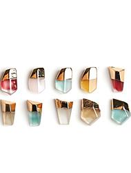 baratos -10pcs Nail Glitter Cristal Estilo Artístico / Criativo Artistíco Casual Carnaval Mascarilha Ferramenta de pontilhamento de unhas Nail Art