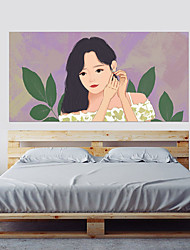 abordables -Calcomanías Decorativas de Pared - Calcomanías 3D para Pared Pegatinas de pared de personas Princesa 3D Sala de estar Dormitorio Baño