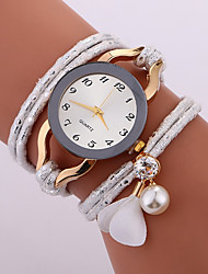 baratos -Mulheres Quartzo Relógio de Moda Chinês imitação de diamante PU Banda Casual Fashion Preta Branco Azul Vermelho Marrom Cinza