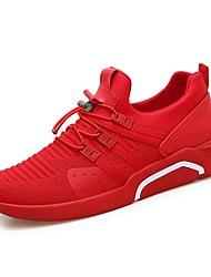 お買い得  -男性用 靴 チュール ネット 夏 ライト付きソール コンフォートシューズ スニーカー ウォーキング ランニング のために カジュアル アウトドア ブラック レッド
