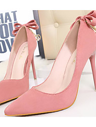 povoljno -Žene Cipele Nubuk koža Proljeće Jesen Obične salonke Udobne cipele Cipele na petu Stiletto potpetica za Kauzalni Crn Sive boje Pink