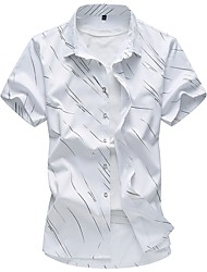 Недорогие -Муж. С принтом Рубашка Классический Цветочный принт