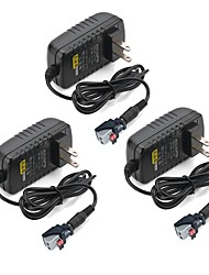 cheap -ZDM® 3pcs 100-240 V Strip Light Accessory / US / EU Power Supply Plastic for LED Strip light 36 W