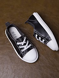 cheap -Boys' / Girls' Shoes Leather Spring Comfort Sneakers for White / Black