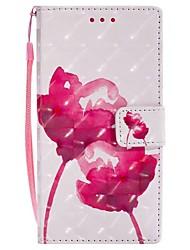 Недорогие -Кейс для Назначение Sony Xperia XZ Xperia XA1 Бумажник для карт Кошелек со стендом Флип Магнитный Чехол Цветы Твердый Кожа PU для Sony