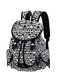Недорогие -Жен. Мешки рюкзак Пуговицы / Несколько слоев для на открытом воздухе Черный / Бронзовый / Тёмно-синий