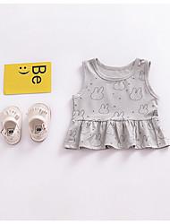 economico -Bambino (1-4 anni) Da ragazza Con stampe Cotone Canotta e canottiera