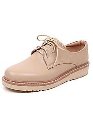 povoljno -Žene Cipele Koža Proljeće Jesen Udobne cipele Oksfordice Niska potpetica Okrugli Toe za Kauzalni Obala Badem