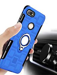 Недорогие -Кейс для Назначение Huawei P9 lite mini Защита от удара со стендом Кейс на заднюю панель Однотонный Твердый ПК для P9 lite mini