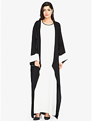 cheap -Women's Sophisticated Street chic Shift Swing Abaya Dress - Color Block, Patchwork