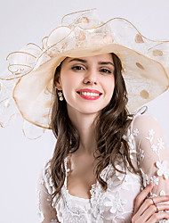 cheap -Silk Headwear Headpiece with Floral Ruched Ruffles 1pc Wedding Special Occasion Headpiece