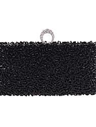 povoljno -Žene Torbe Poliester Večernja torbica Kristalni detalji za Vjenčanje Zabave Sva doba Šampanjac Crn Pink