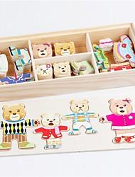 abordables -Puzzles en bois Thème de conte de fées Ours Animaux Interaction parent-enfant Adorable Bois / Bambou 1pcs Enfant Adolescent Tous Cadeau