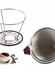 Недорогие -нержавеющая сталь конус кофе фильтр капельница двойной слой сетка кофейный фильтр фильтр держатель инфузия домашняя кухня кофеварка инструменты