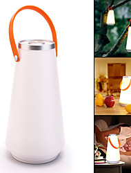 cheap -Creative Wireless  Home Night Light Touch Switch Lanterns & Tent Lights LED 1 Mode Portable Camping / Hiking / Caving / Everyday Use White