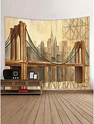 baratos -Arquitetura Abstrato Decoração de Parede 100% Poliéster Moderna Modern Arte de Parede, Tapetes de parede Decoração