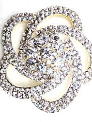 Недорогие -Жен. В форме листа Броши - металлический Серебряный с черным Брошь Назначение Для вечеринок