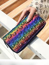 cheap -Women's Bags PU Wallet Zipper for Casual Black / Gray / Rainbow