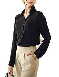 cheap -Women's Business Street chic Shirt-Solid Colored