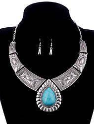 cheap -Women's Turquoise Jewelry Set - Drop Vintage Include Gold / Silver For Evening Party / Club