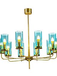billige -QIHengZhaoMing 8-Light Candle-stil Lysestager Baggrundsbelysning 110-120V / 220-240V, Varm Hvid, Pære Inkluderet / 15-20㎡