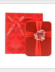 cheap -Cube Tins Favor Holder with Sashes / Ribbons Favor Boxes - 10-Pack