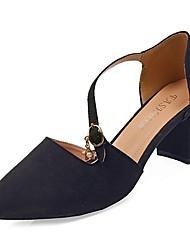 お買い得  -女性用 靴 ラバー 春 秋 コンフォートシューズ ヒール チャンキーヒール のために アウトドア ブラック ベージュ