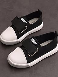 billige -Pige Drenge Sko PU Forår Efterår Komfort Sneakers for Afslappet udendørs Hvid Sort Grøn