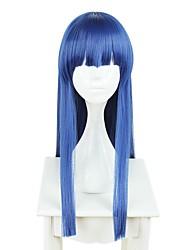 Недорогие -Косплей Все 28 дюймовый Термостойкое волокно Чернильный синий Аниме Косплэй парики