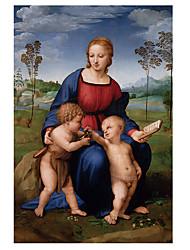 baratos -Estampado Laminado Impressão De Canvas - Famoso Religioso Tradicional