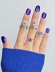 Недорогие -Ring Set - 6шт Круглый В форме короны Геометрической формы Классический Мода Серебряный Кольцо Назначение Повседневные Свидание