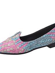 Недорогие -Жен. Обувь Искусственное волокно Лето Удобная обувь На плокой подошве На плоской подошве Заостренный носок Красный / Зеленый / Синий