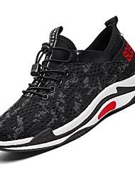 お買い得  -男性用 靴 チュール ネット 夏 ライト付きソール コンフォートシューズ スニーカー ウォーキング フィットネス ランニング のために カジュアル ブラック ダークグリーン