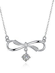 abordables -Femme Zircon S925 argent sterling Pendentif de collier  -  Mode Forme Géométrique Argent 45cm Colliers Tendance Pour Cadeau Quotidien
