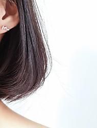 abordables -Femme Adorable Décalage Boucles d'oreille goujon - simple / Décalage Argent Irrégulier Des boucles d'oreilles Pour Cadeau / Quotidien