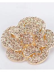 Недорогие -Кристаллы Декоративные элементы Жен. Все сезоны Повседневные Золотой Серебряный
