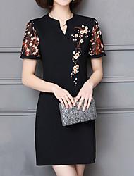 povoljno -Žene Ulični šik Bodycon Haljina - Vezeno Kolaž, Color block Iznad koljena