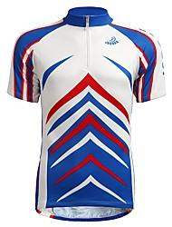 baratos -Jaggad Homens Manga Curta Camisa para Ciclismo - Azul Moto Camisa / Roupas Para Esporte, Respirável / Com Stretch
