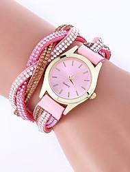 Недорогие -Жен. Модные часы Китайский Повседневные часы PU Группа Богемные / Цветной Черный / Белый / Синий / Один год
