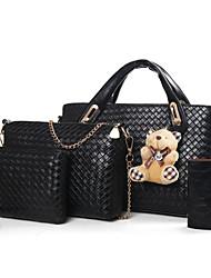 cheap -Women's Bags PU Bag Set 4 Pieces Purse Set Bear for Event / Party Black / Red / Camel