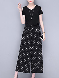 cheap -Women's Sophisticated Street chic Jumpsuit - Polka Dot, Cut Out