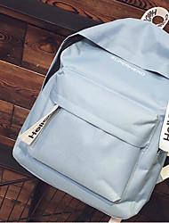 povoljno -Uniseks Torbe Terilen Školska torba Patent-zatvarač za Kauzalni Sva doba Crn Blushing Pink Bež Sky blue
