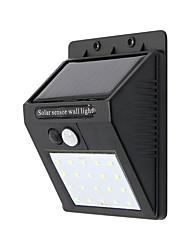 Недорогие -1шт 10 W настенный светильник Водонепроницаемый / Работает от солнечной энергии Холодный белый 3.7 V Уличное освещение 20 Светодиодные бусины