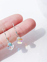 cheap -Cubic Zirconia Drop Earrings - Sterling Silver Simple, Korean, Fashion Rainbow For Gift / Daily