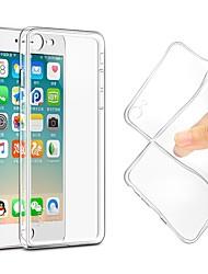 Недорогие -Кейс для Назначение Apple iPhone X iPhone 8 Ультратонкий Прозрачный Body Кейс на заднюю панель Однотонный Мягкий ТПУ для iPhone X iPhone